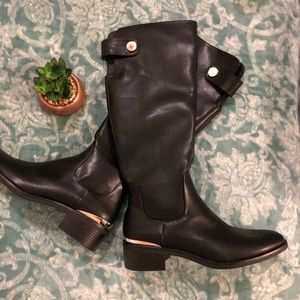 Zara leather boots 40